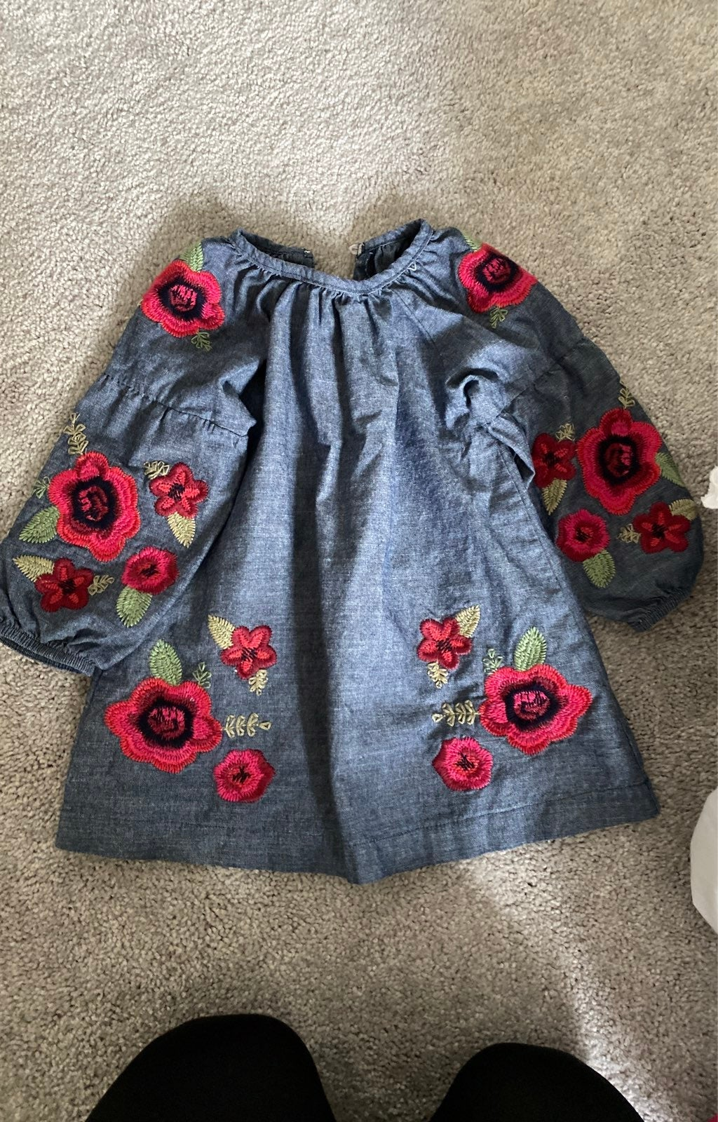 Mudpie Chambray 12-18M Embroidered Dress