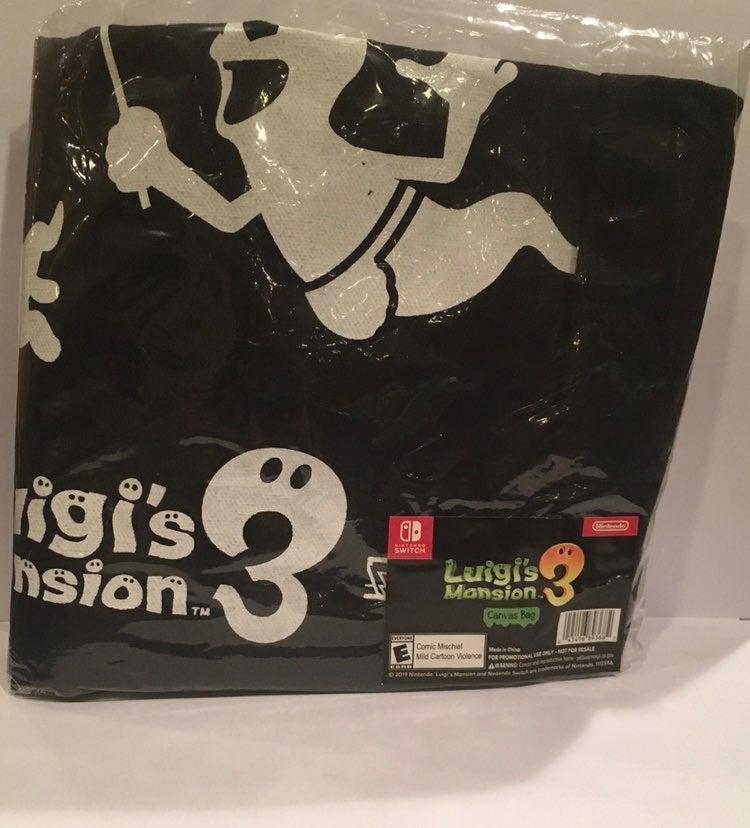 *Rare* Luigi's Mansion 3 Canvas Bag