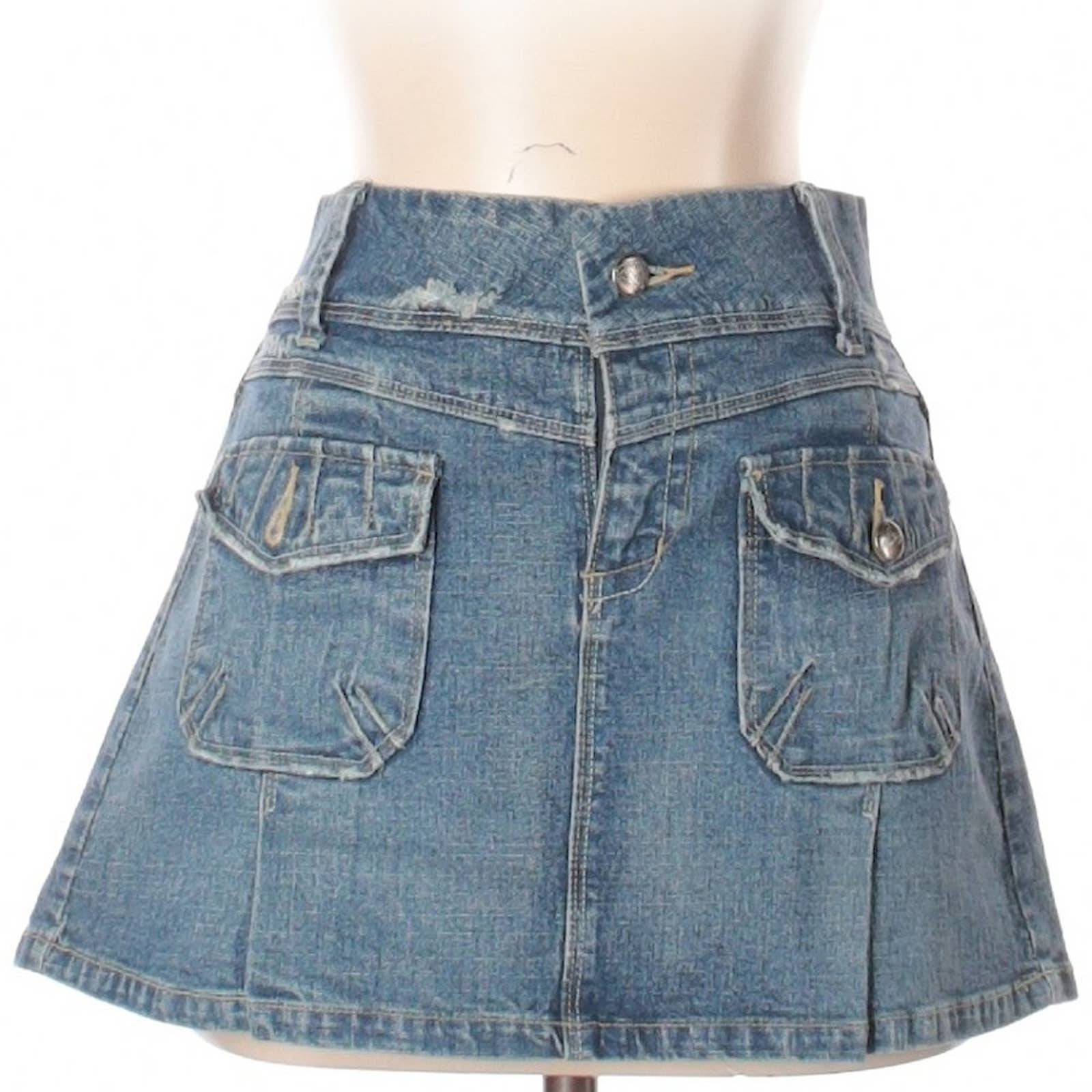 Candies | denim pocket mini skirt