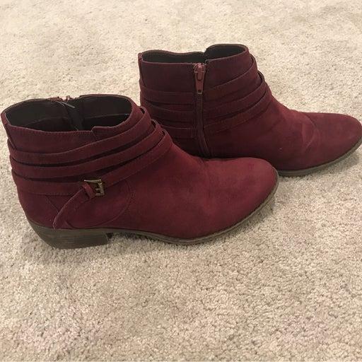 Maroon Booties