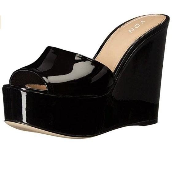 YDN High Heels Platform Peep Toe Sandals