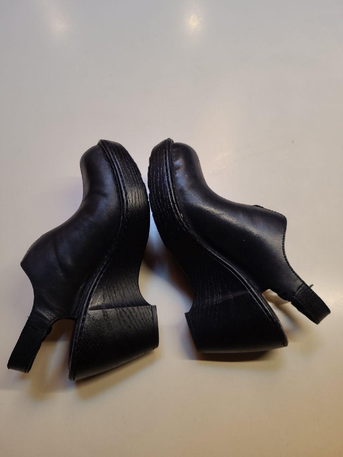 Black Born Slingback Clogs Boots