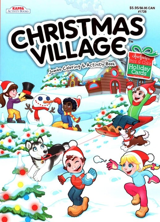 Christmas Village - Coloring Book