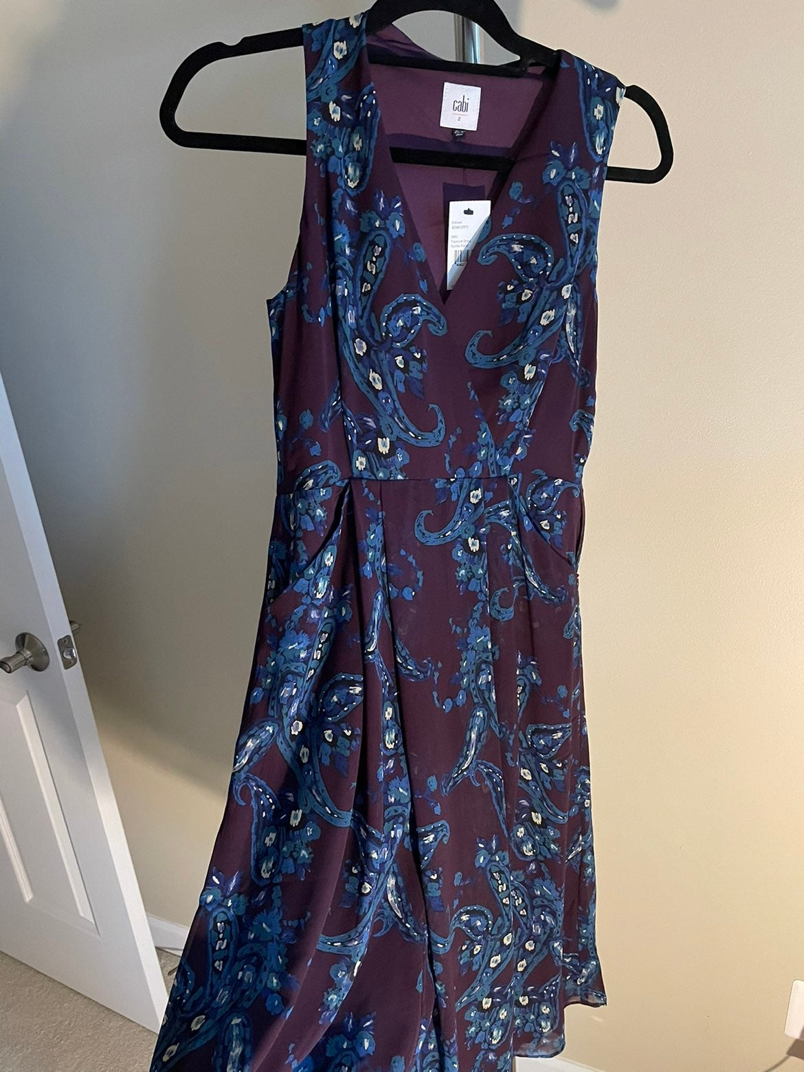 NWT purple paisley Cabi dress size 2