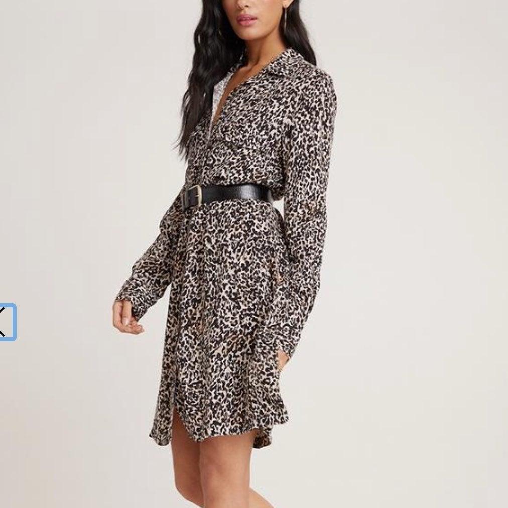 Bella Dahl Leopard Pocket Shirt Dress