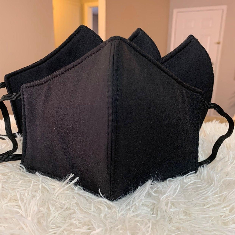 4 washable masks with felt layer