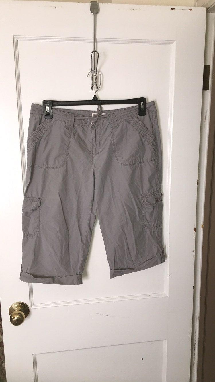 Grey Cargo Shorts 13