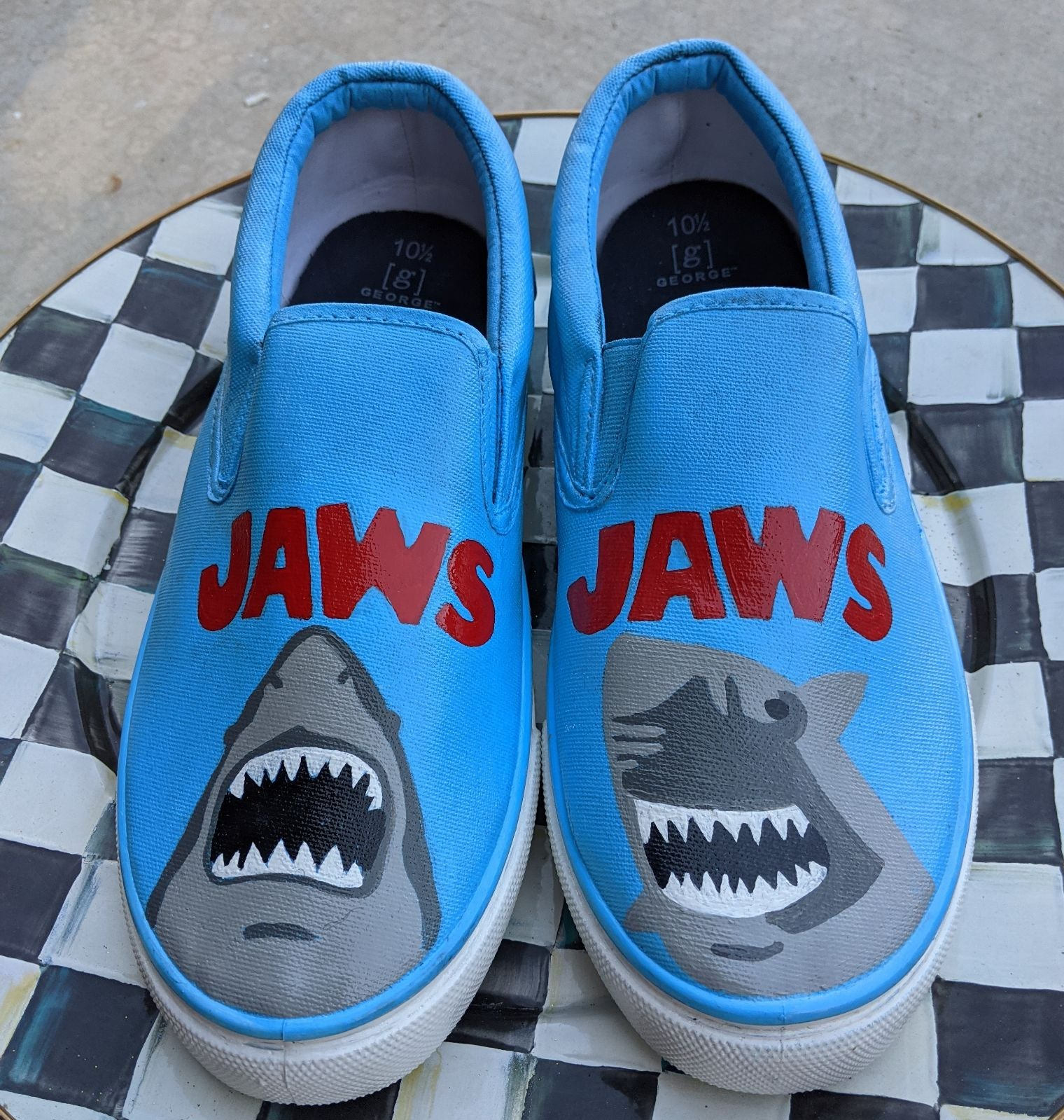 Custom JAWS Sneakers Size 10.50