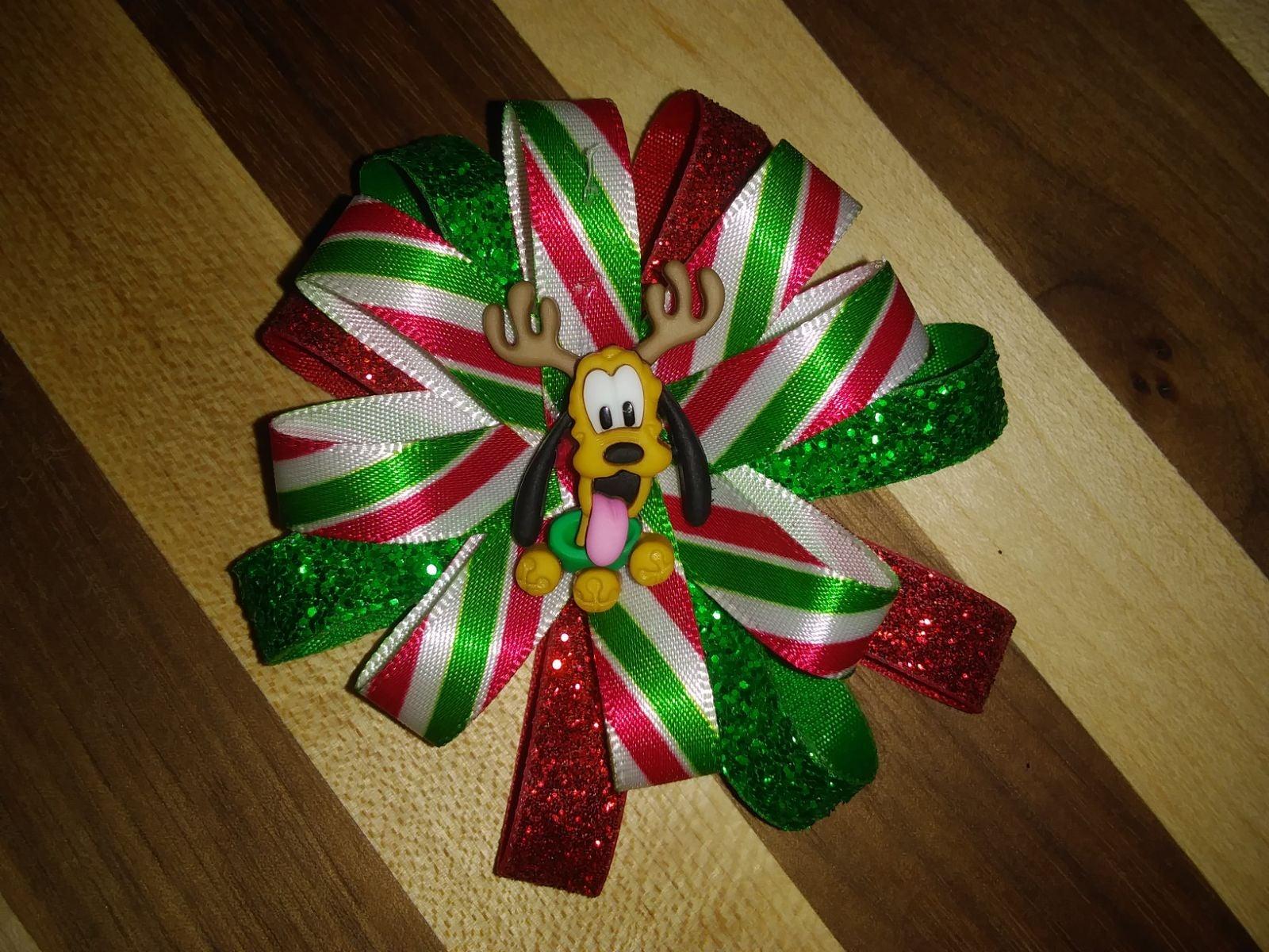 Pluto Christmas Hairbow