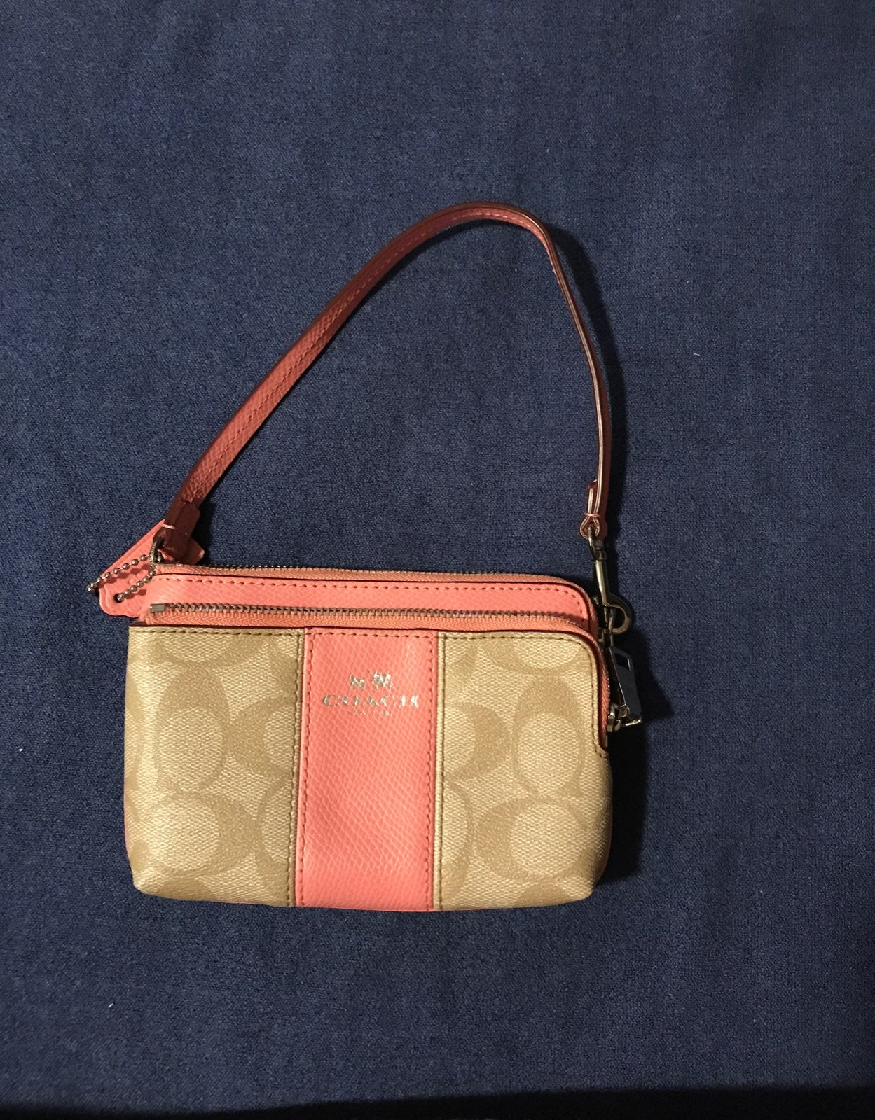 Coach Double pocket wristlet