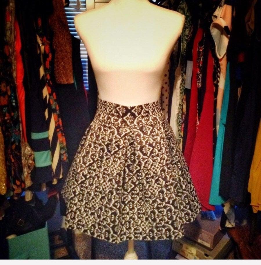 Xhilaration Black/White Structured Skirt
