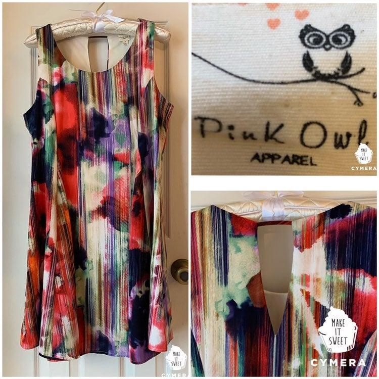 Pink Owl Dress