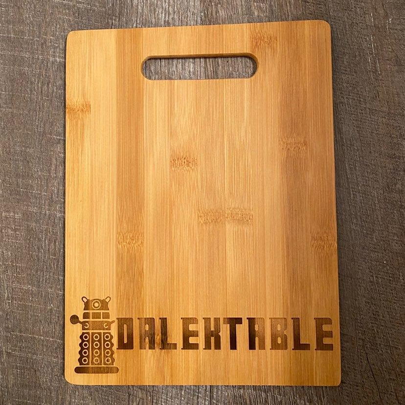 Doctor Who Bamboo Cutting Board