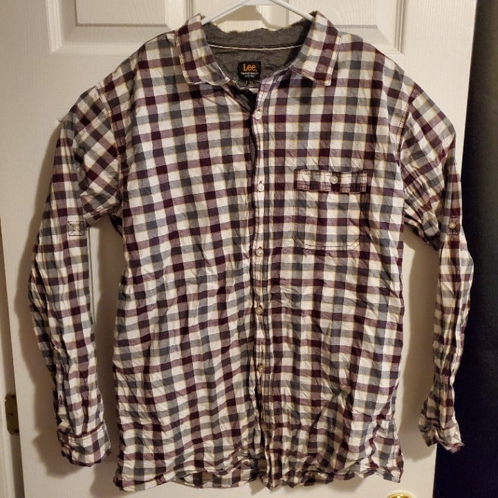 Lee Long Sleeve Button Up Shirt Plaid