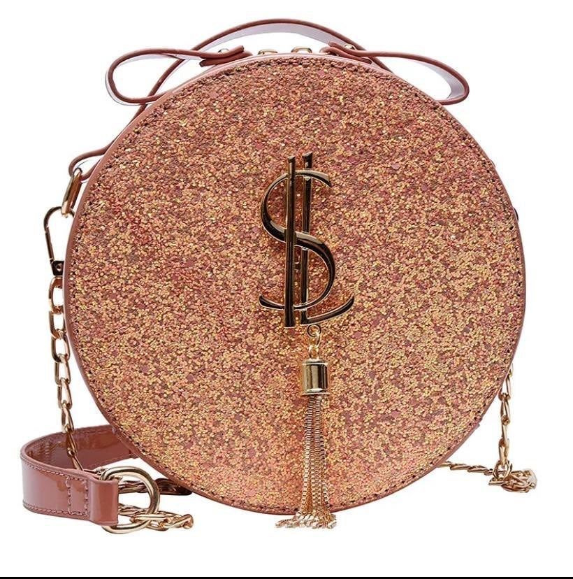 Sequin crossbody women bag