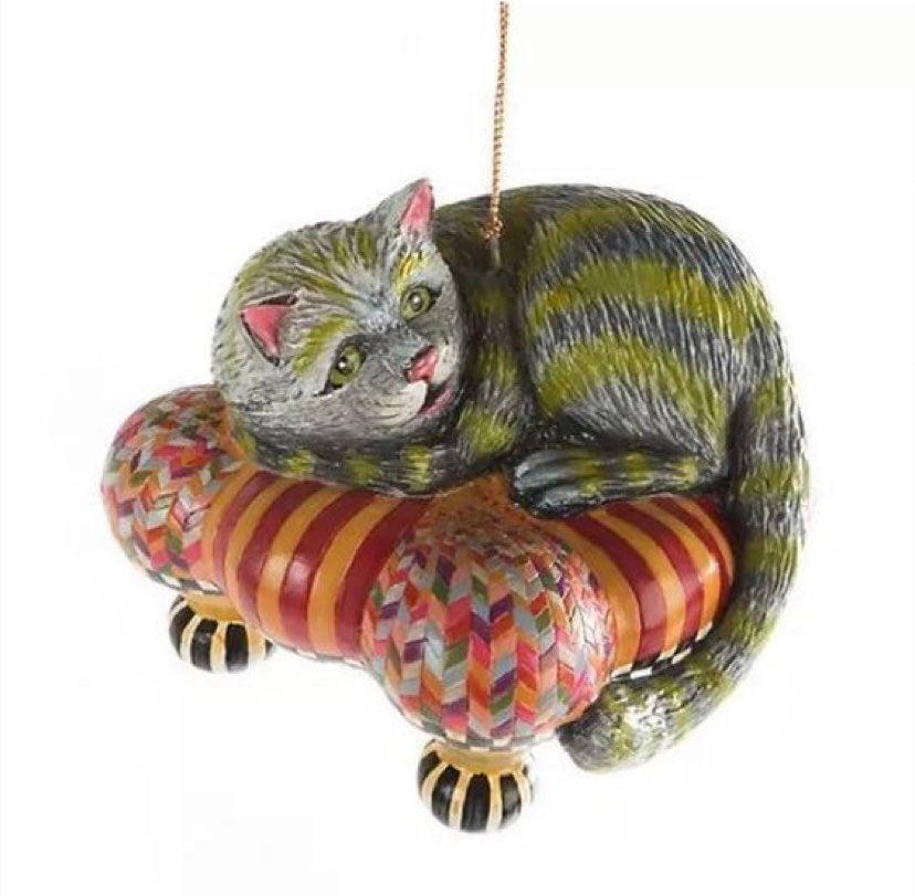 Mackenzie Childs Cheshire Cat Ornament