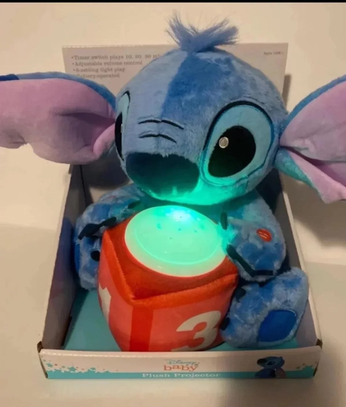 disney baby stitch plush projector