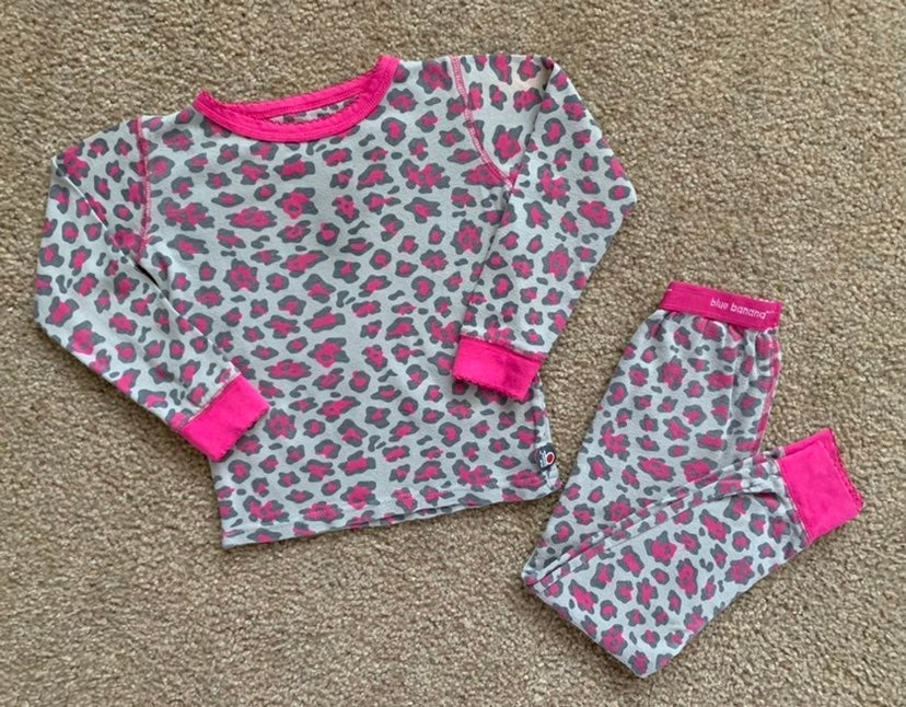 Girls Leopard Print PJ's Size 5