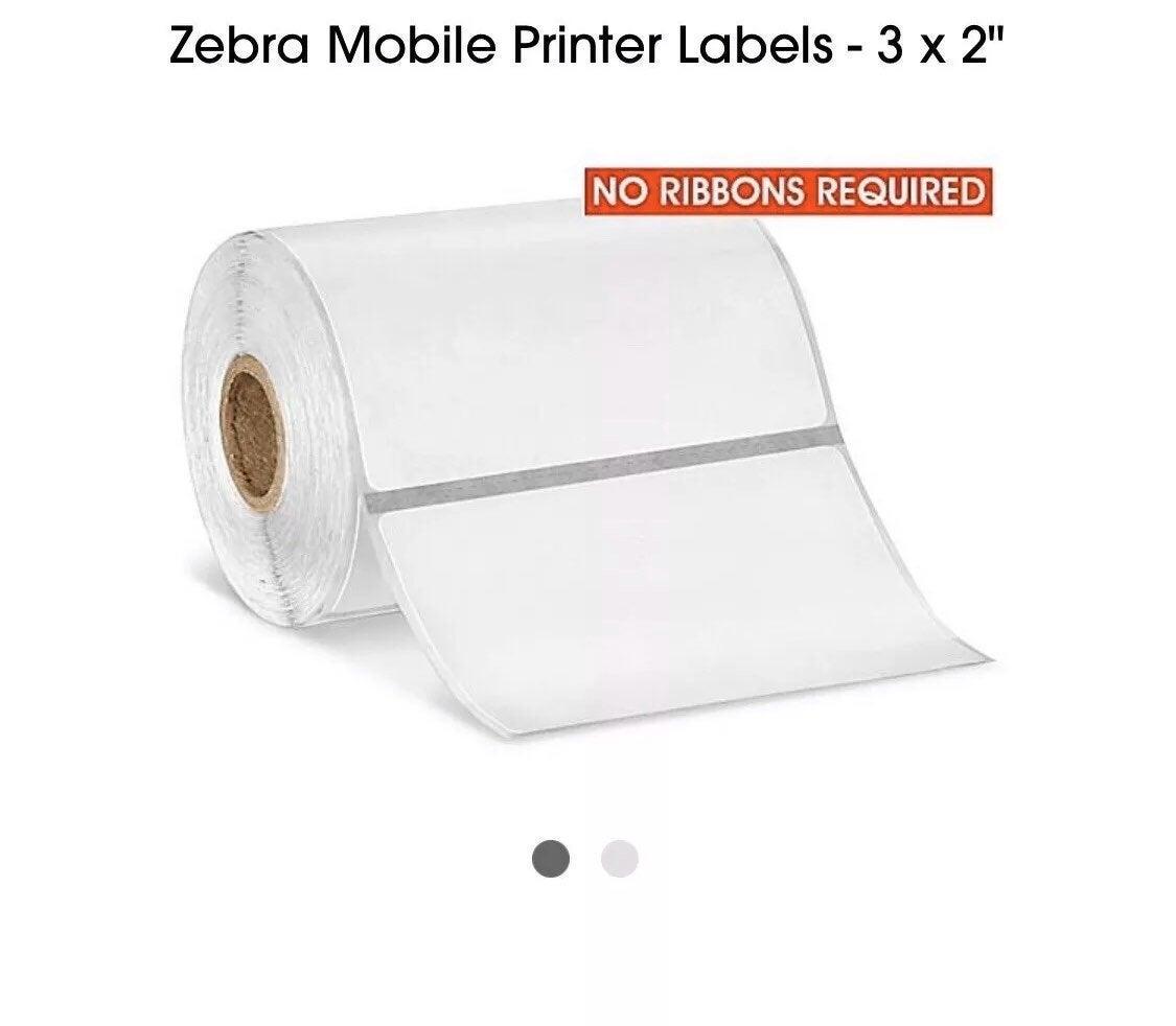"""Zebra Mobile Printer Labels - 3 x 2"""""""