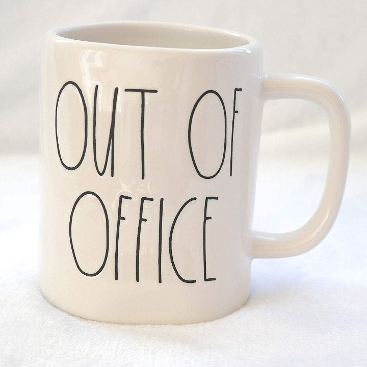Rae Dunn ~ OUT OF OFFICE ~ Mug Cup NEW
