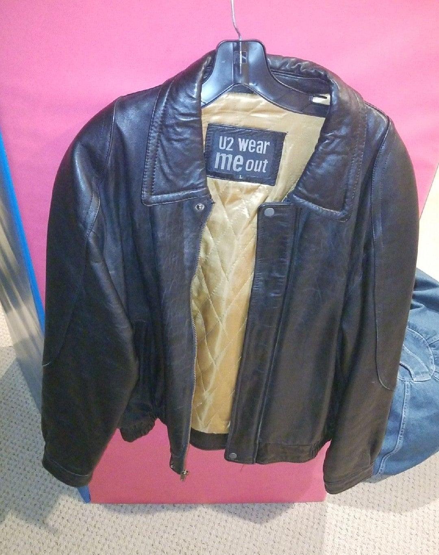 men's leather jacket. Sz. L