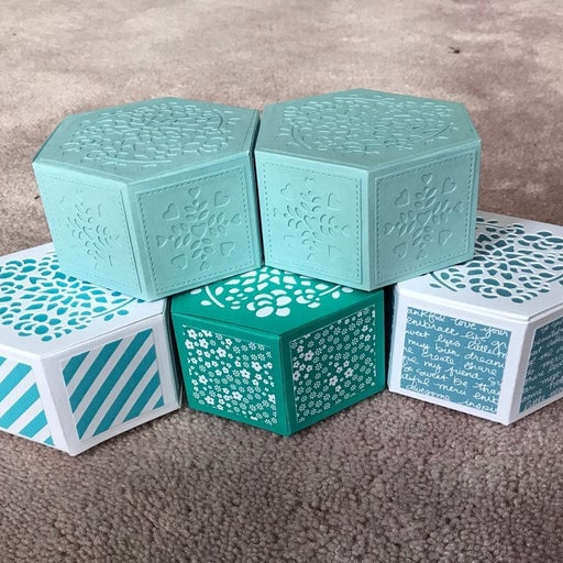 Set of 5 small handmade boxes
