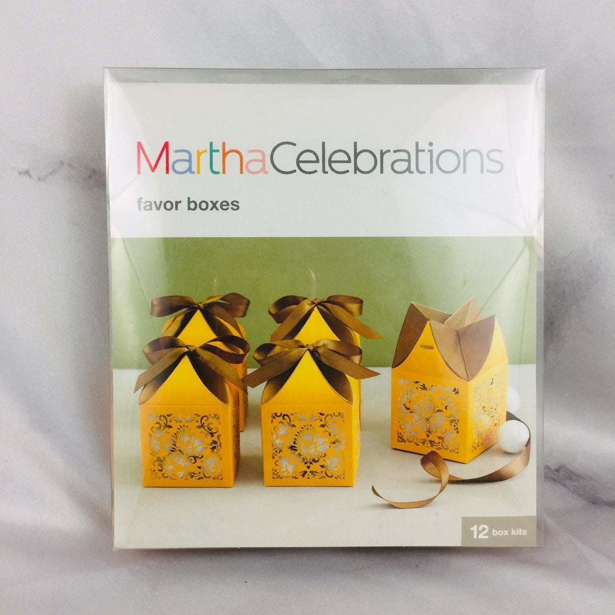 Martha stewart gold favor boxes