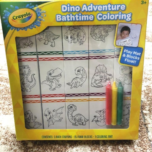 NEW Crayola Toy Dinosaur Bath Art Crayon