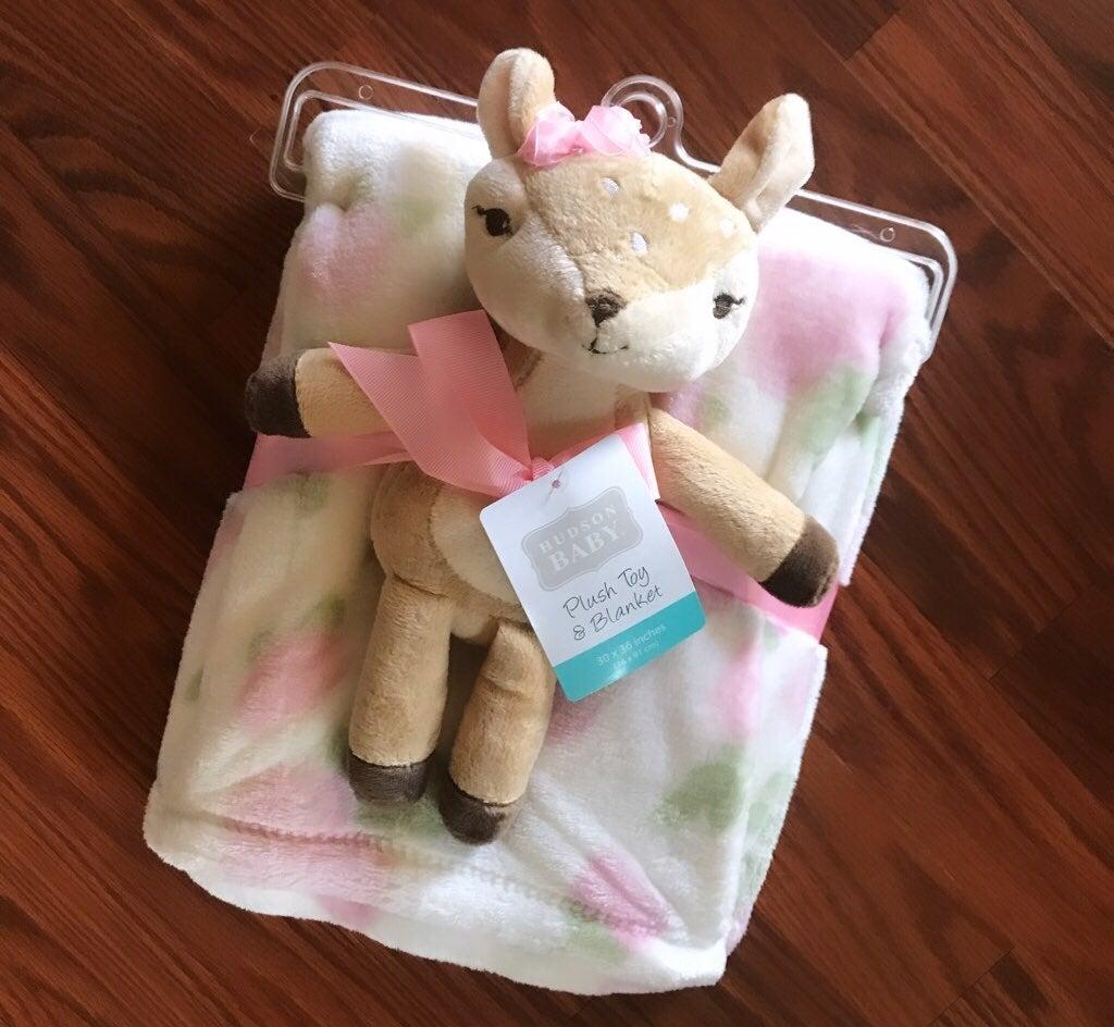 Hudson Baby Plush Toy & Blanket