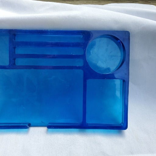 Blue rolling tray
