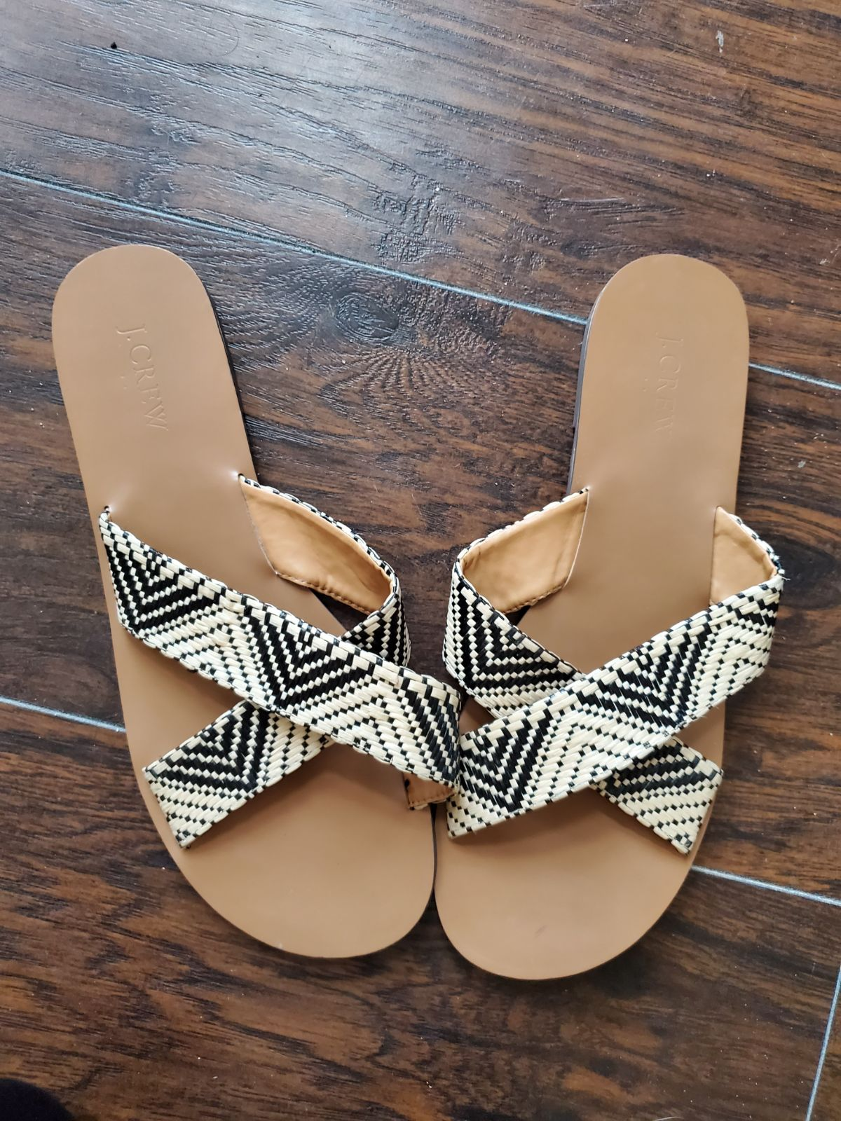 J. Crew criss Cross Aztec Woven Sandals
