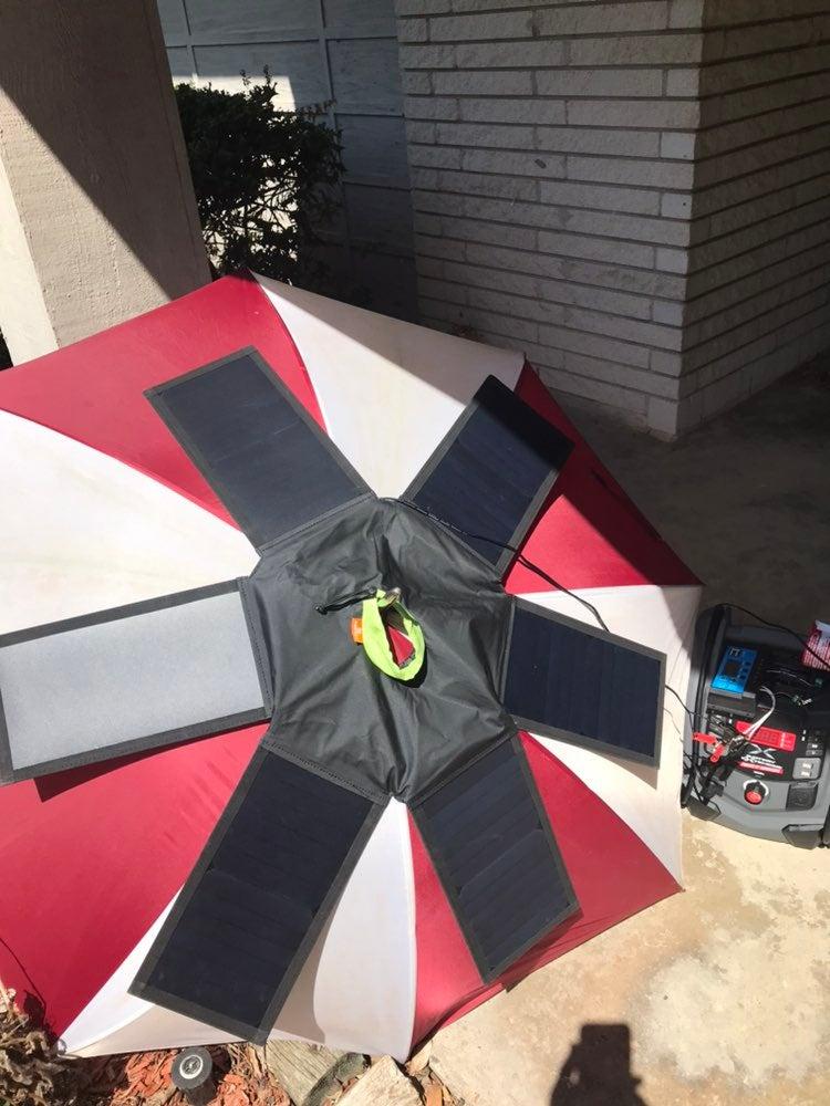 Umbrella solar panel+Schumacher station