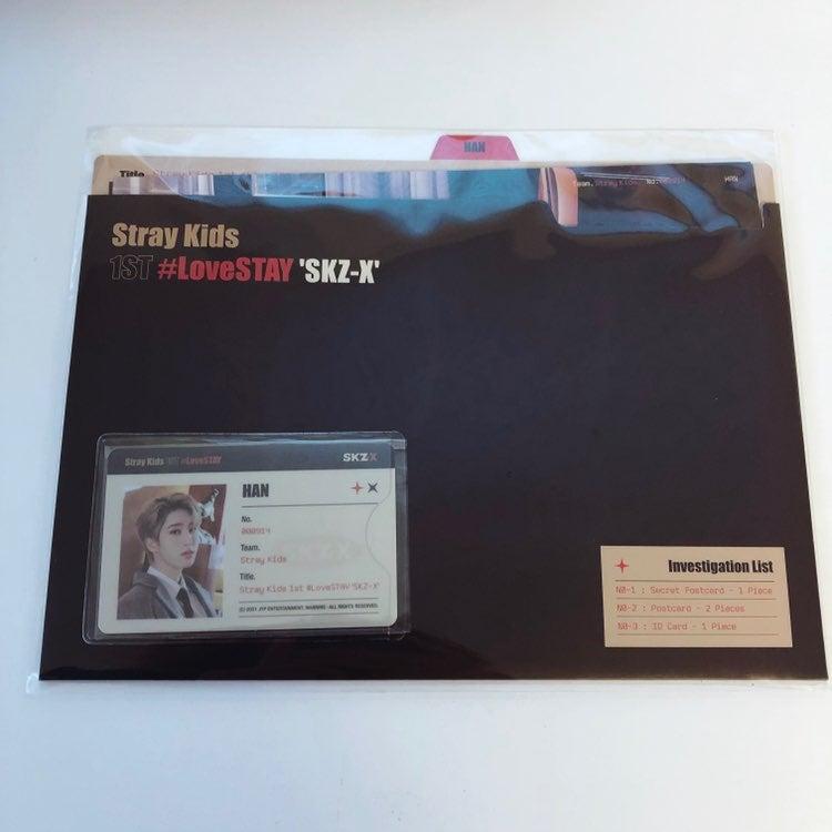 Lovestay skz-x postcard ID jisung