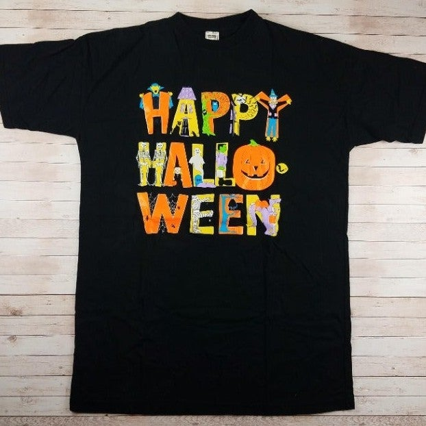 VTG 1990s Happy Halloween 2XL Tee Shirt