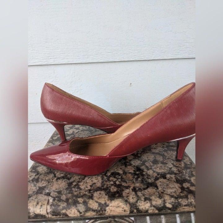 Calvin Klein Patna red rock pumps NWOB