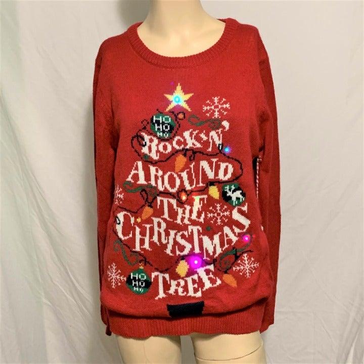 Ugly Christmas Sweater Light Up Rockin M