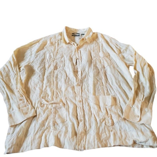 Cubavera 100% linen Mens Shirt XXL