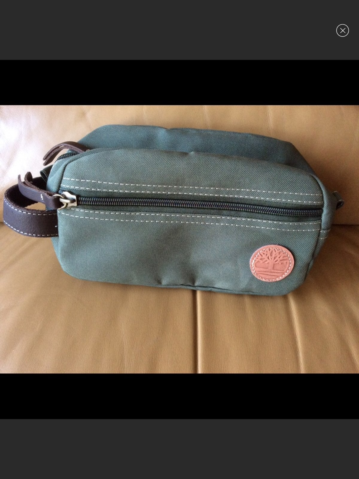 Timberland Green Canvas Toiletry Bag