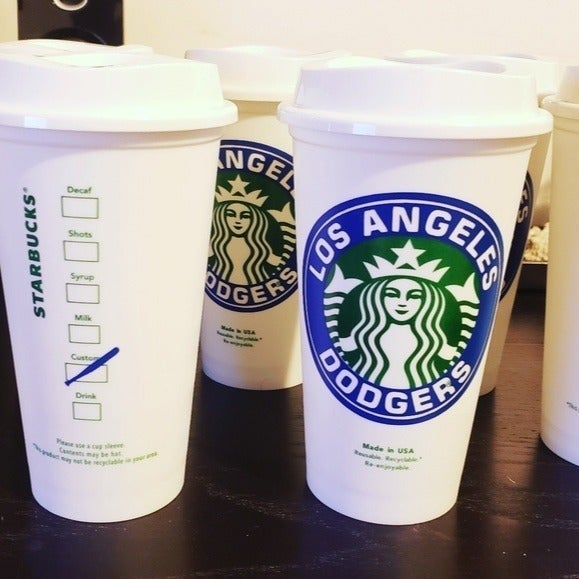 LA Dodgers Starbucks Travel Coffee Cup