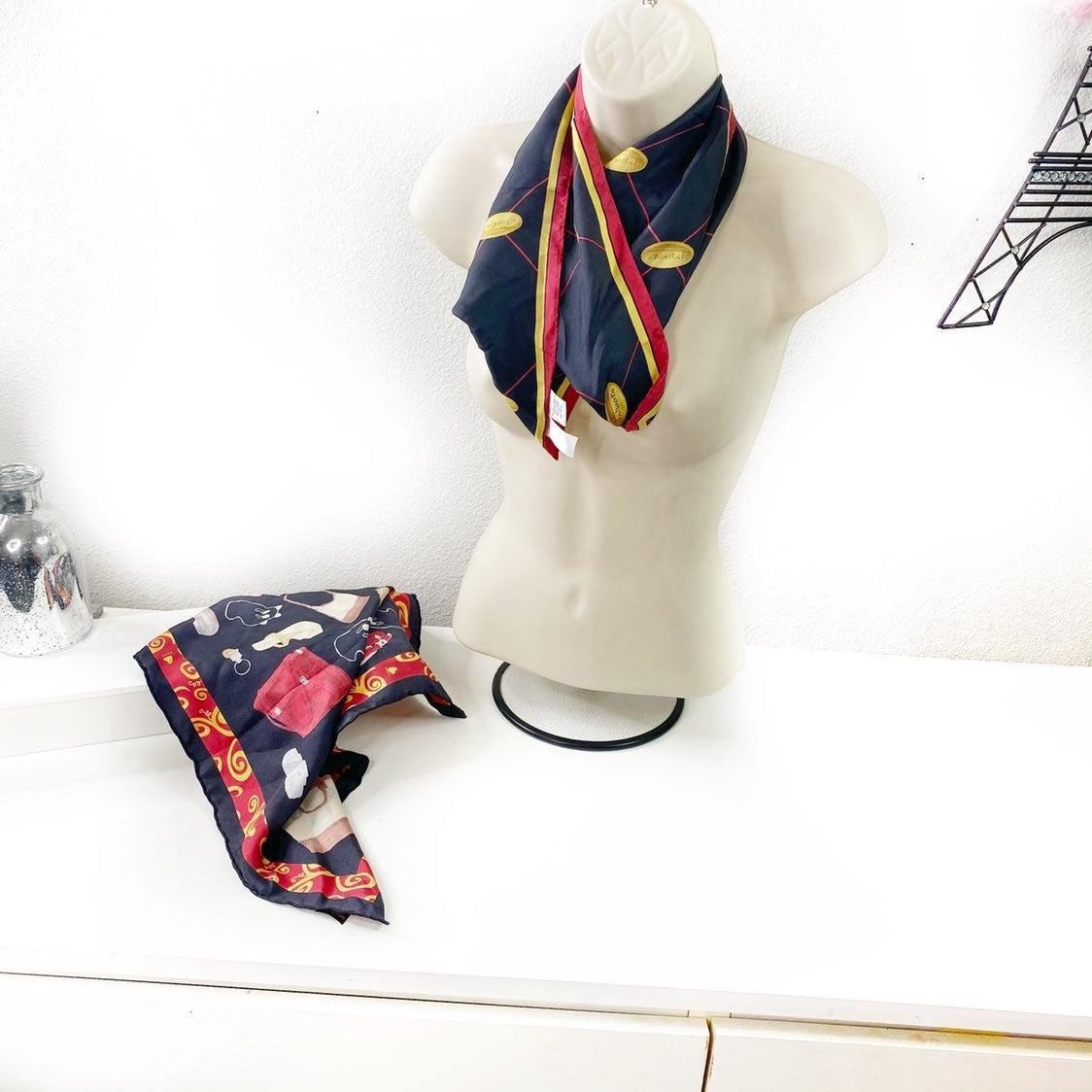 Bundle X 2 Brighton/Talbots Silk Scarfs