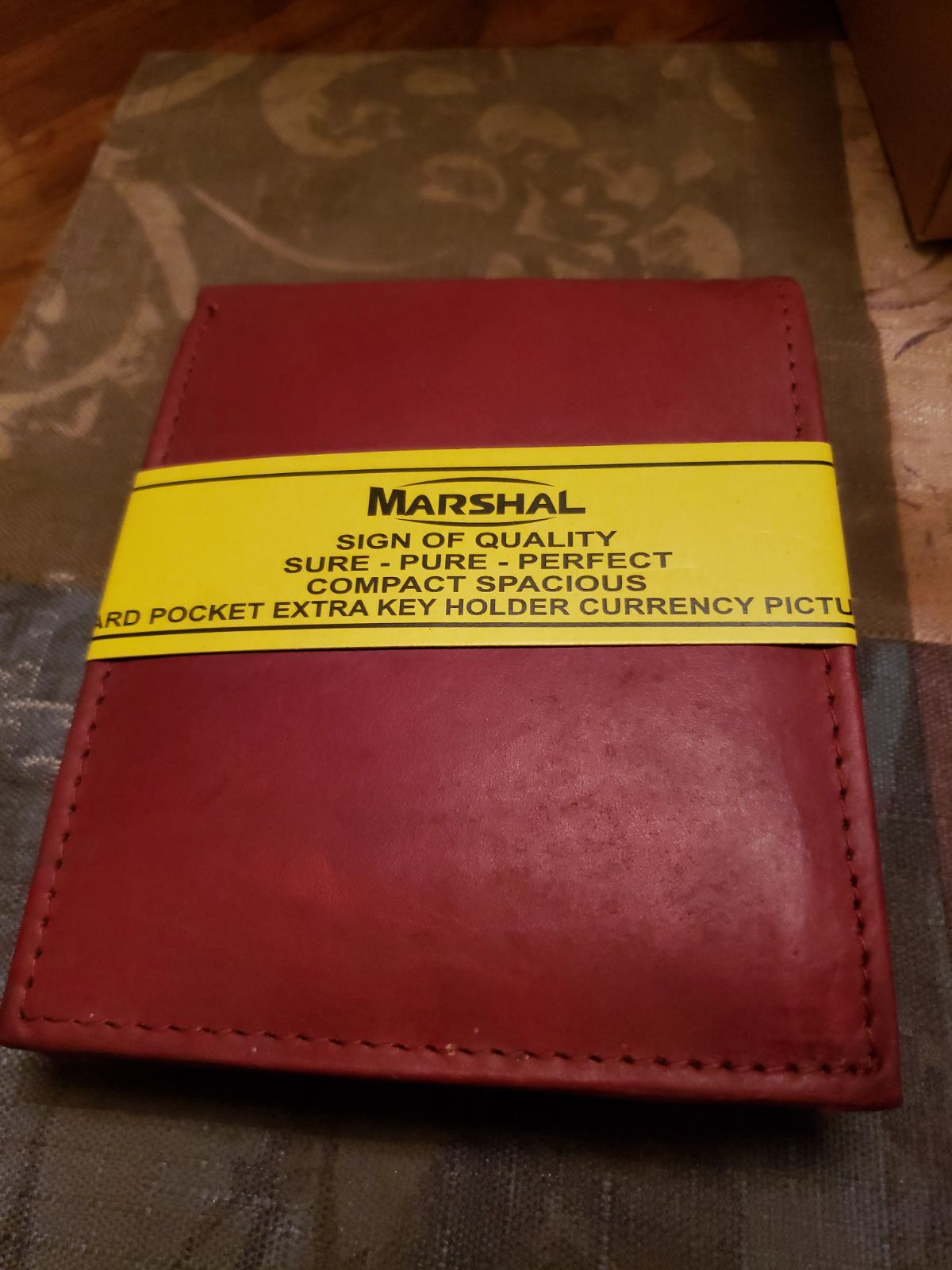 Men's leather wallet by Marshal