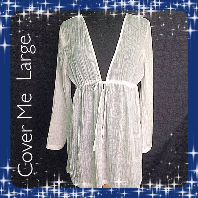 Cover Me / Size Large White Cover Up