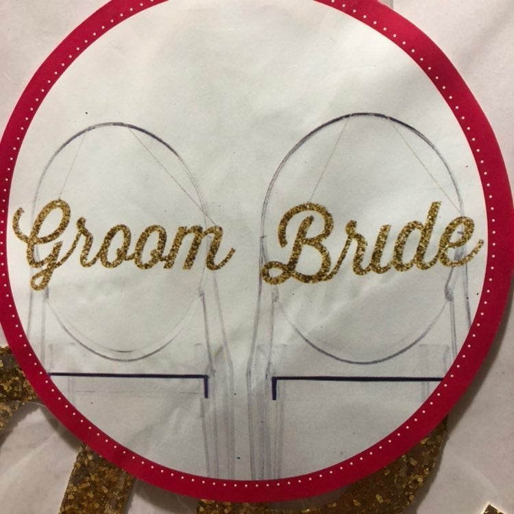 NEW bride and groom sign