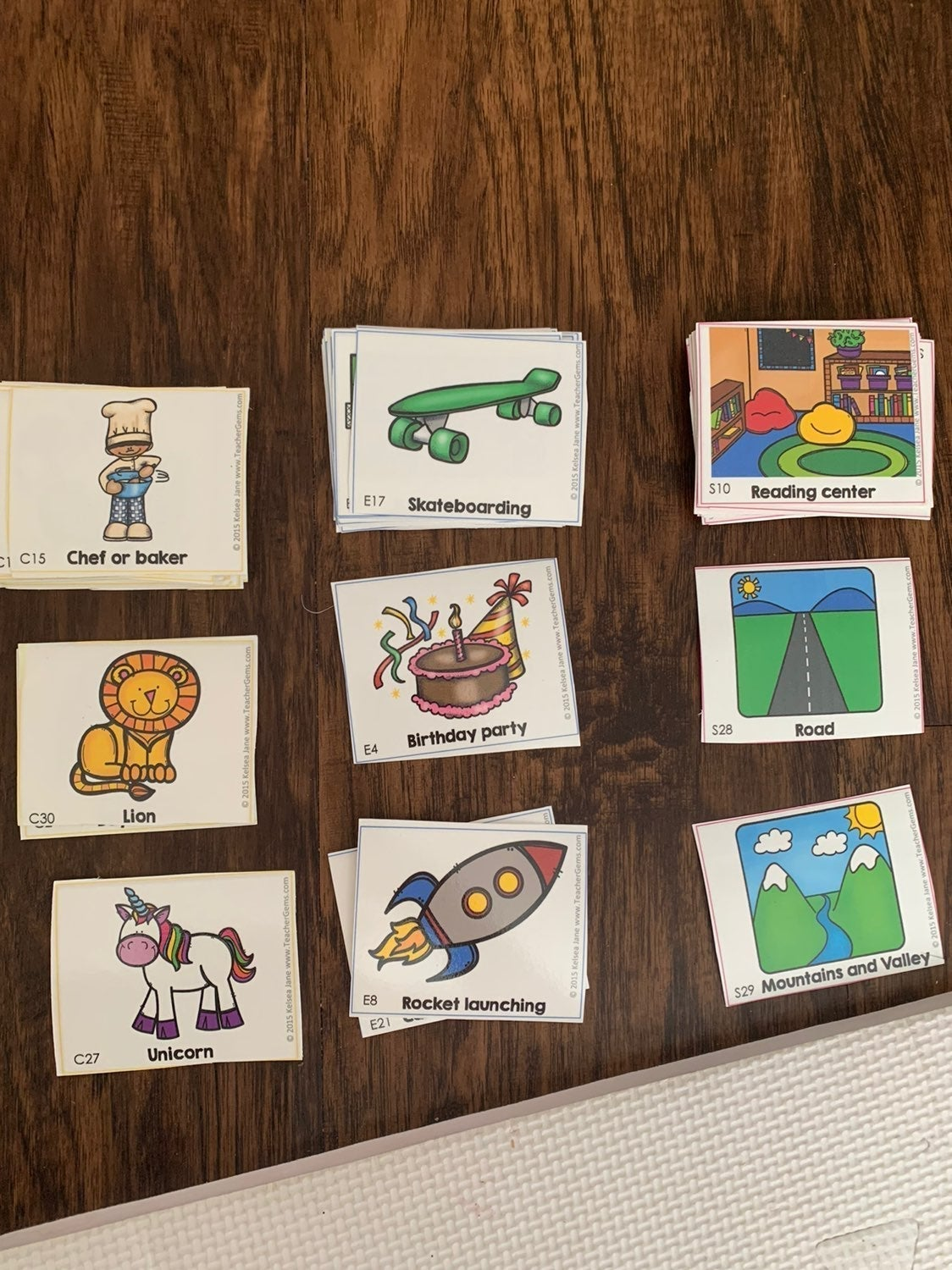 Who What Where Story Telling Cards