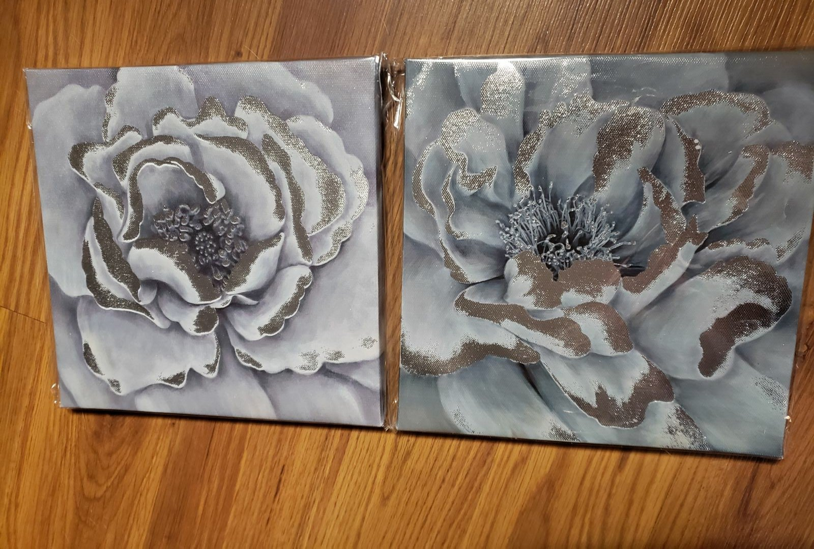 Two beautiful flower canvas decor