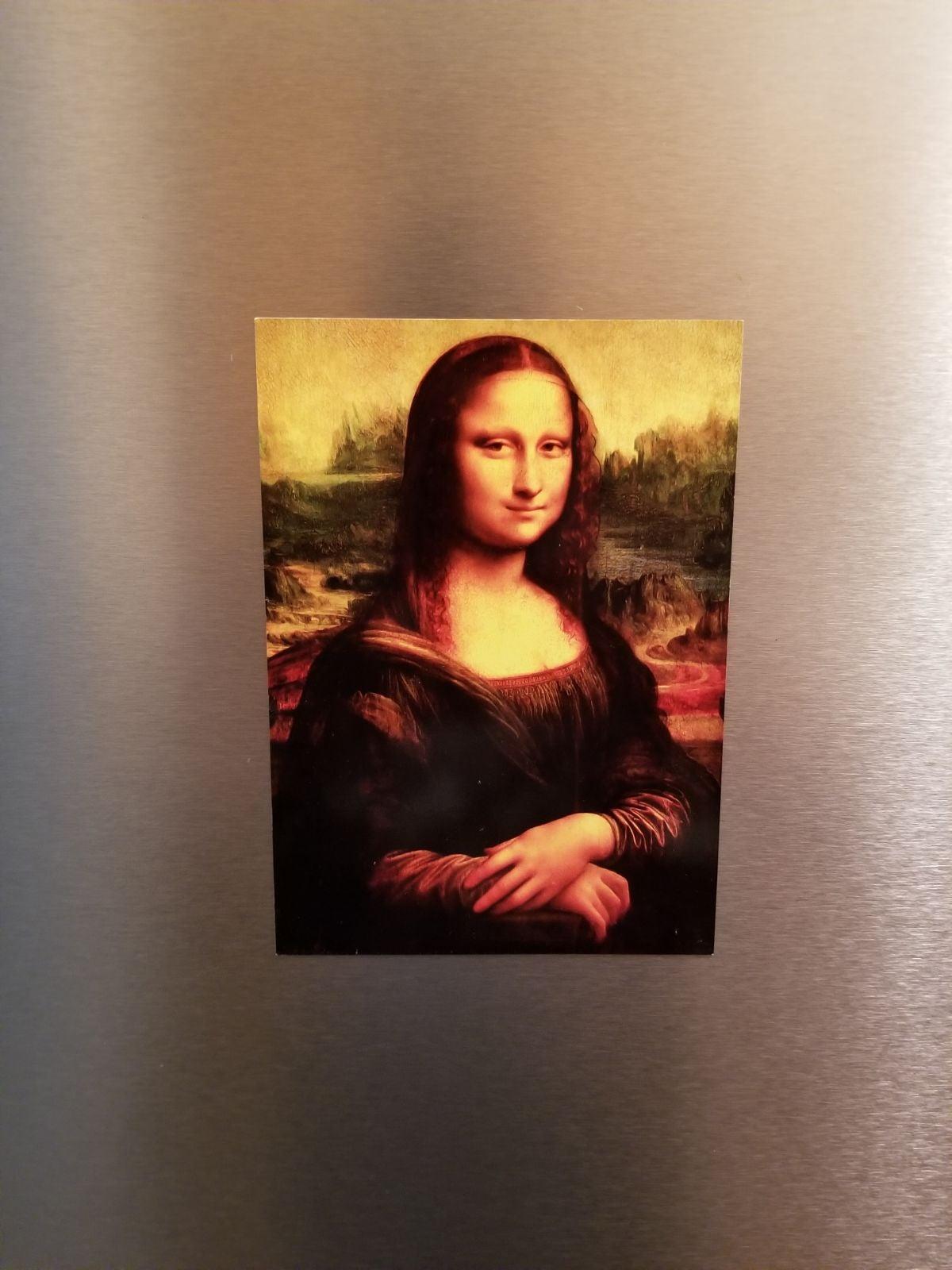 "Mona Lisa Magnetic Poster 5""×7"""