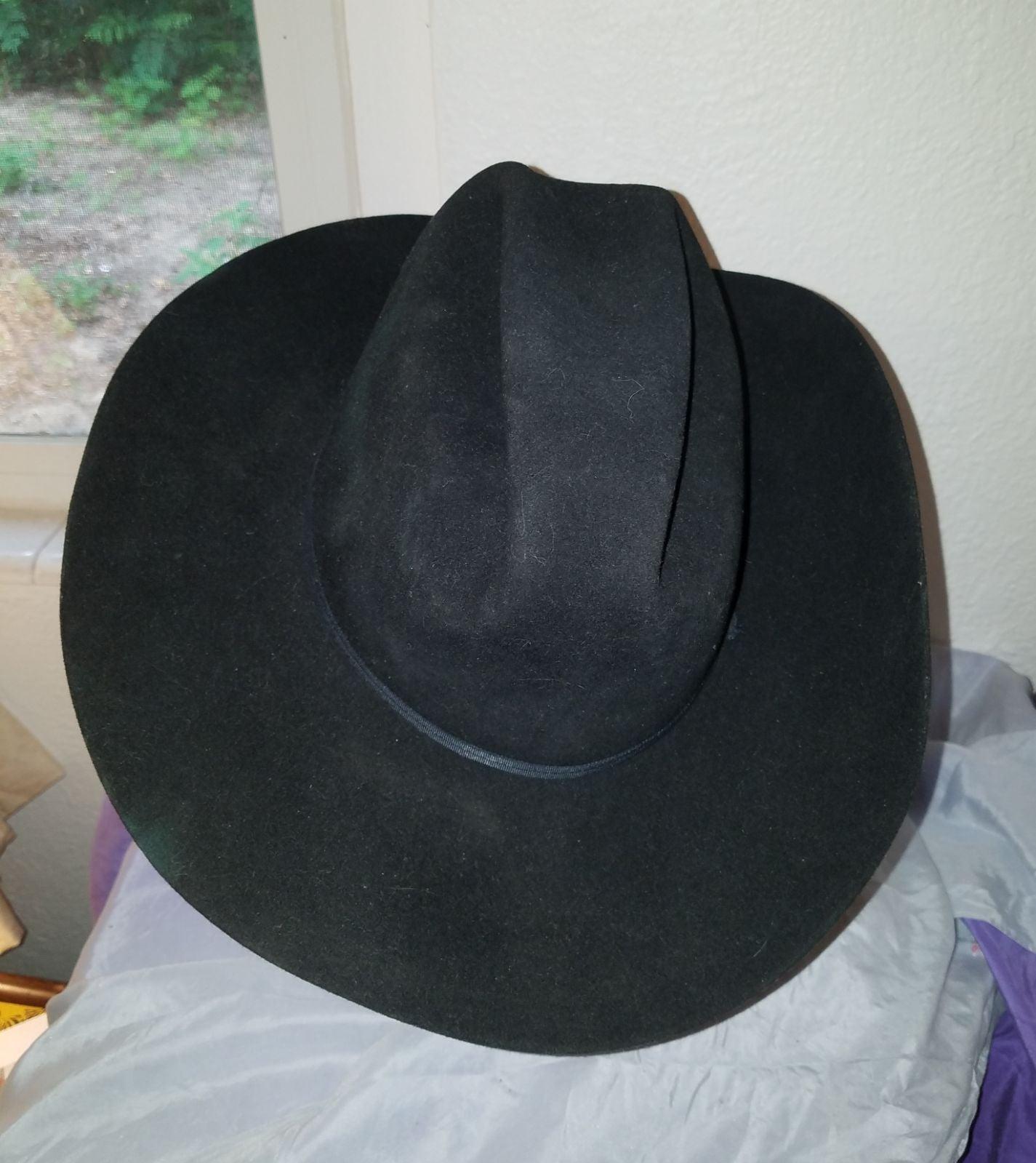 Eddy Black Vintage Western Cowboy Hat