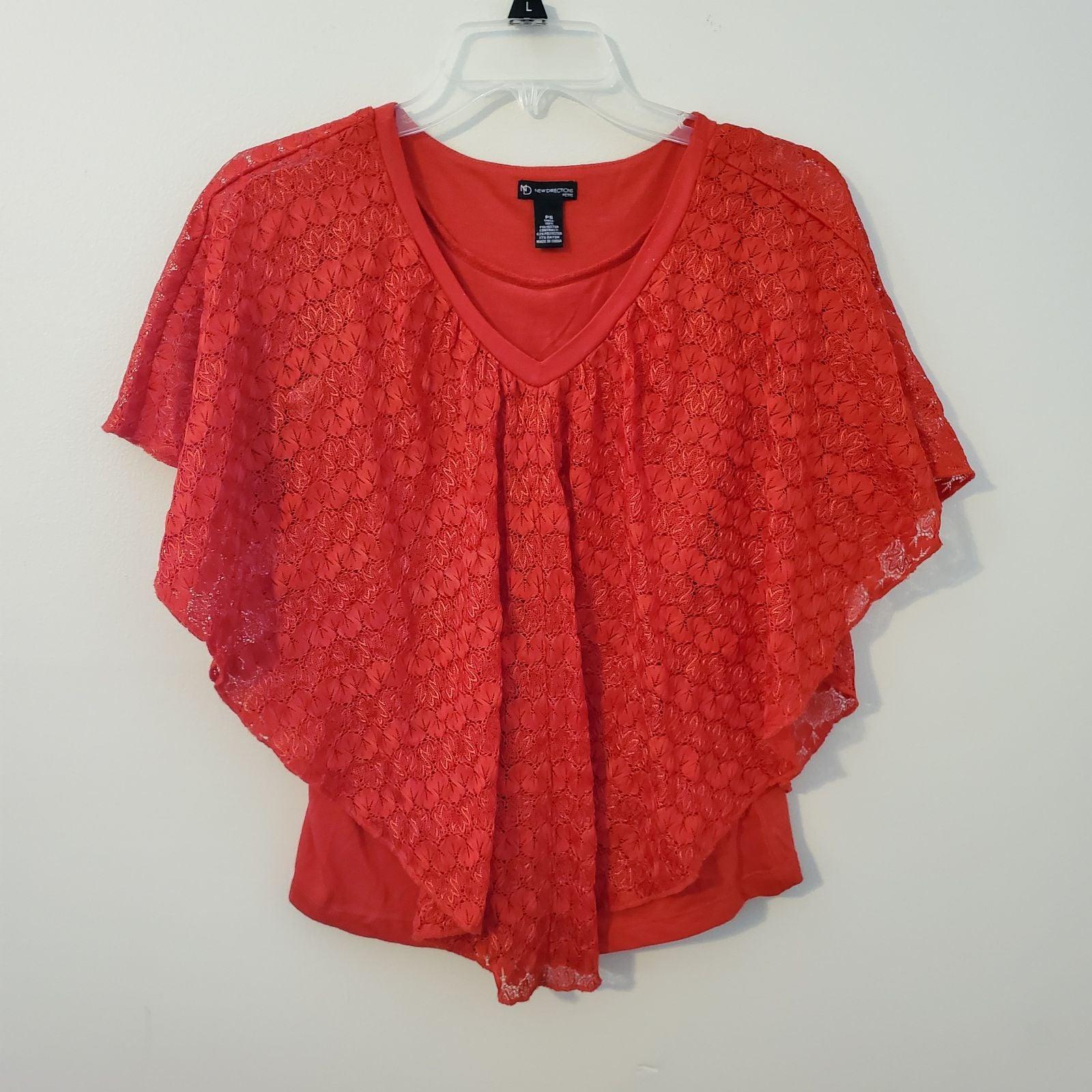 New Directions Petite Crochet Top PS