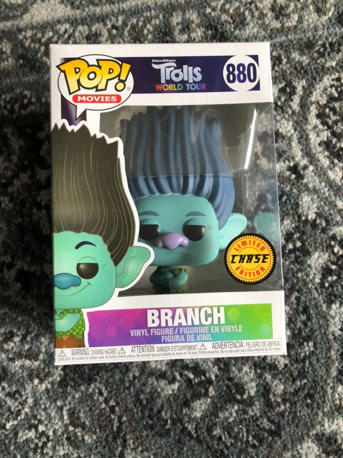 Funko pop trolls branch chase world tour