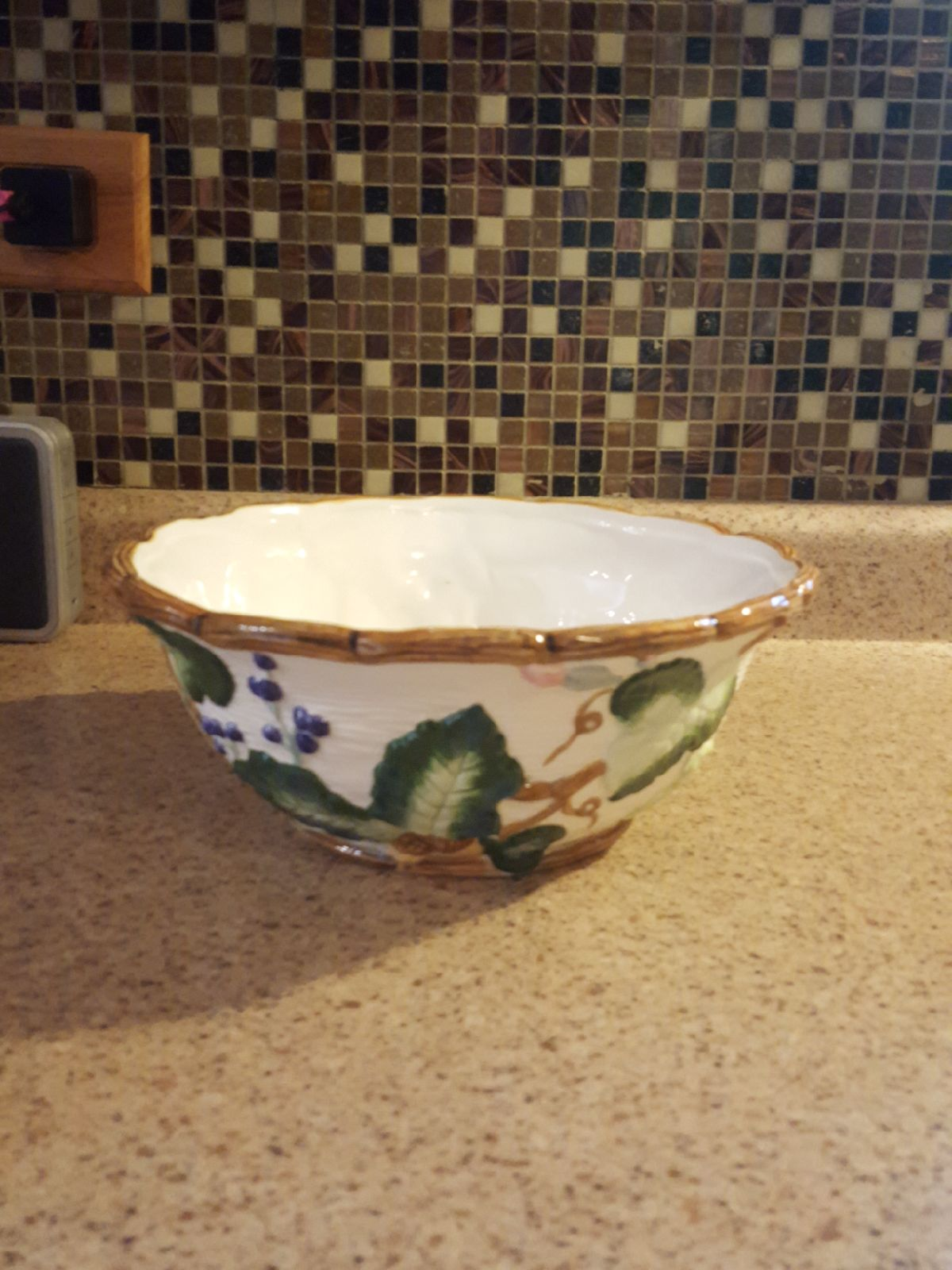 Squash Blossom Serving Bowl